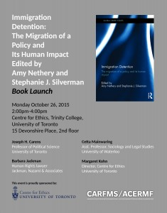 Immigration Detention Book Launch Poster